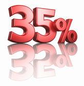 глянцевый красный тридцать пять процентов — Стоковое фото