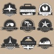 Travel labels — Stock Vector