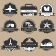 Travel labels - Stock Vector