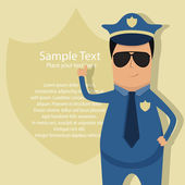 Policeman — Stock Vector