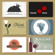 Royalty-Free Stock Vectorafbeeldingen: Restaurant cards
