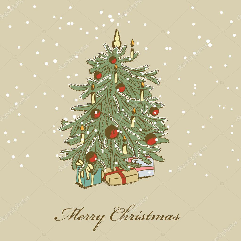 手画的圣诞树— 矢量图片作者 578foot