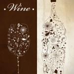 Abstract wine bottle — Stock Vector