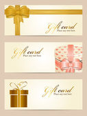 Tarjetas regalo — Vector de stock