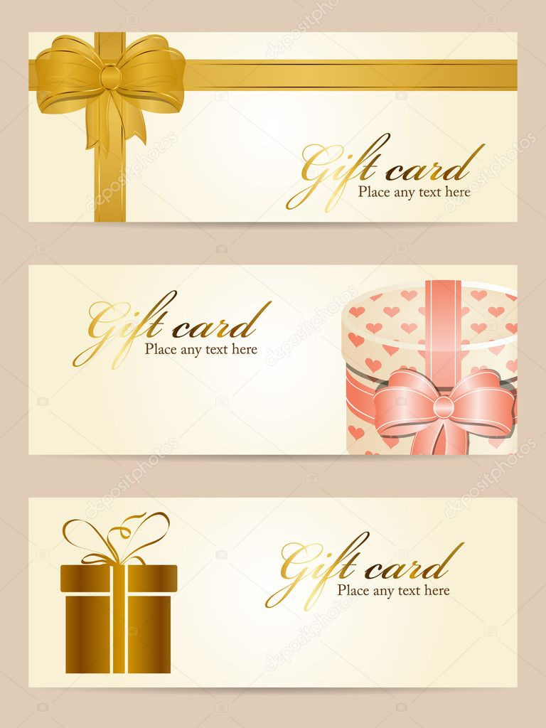 Vector set of gift cards — Stock Vector #8613431