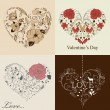 St. Valentine&#039;s day set - Stock Vector