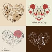 St. Valentine's day set — Stock Vector