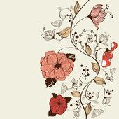 çiçek arka plan — Stok Vektör