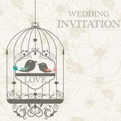 Hochzeitseinladung — Stockvektor