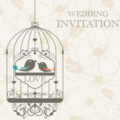 Wedding invitation — Vetor de Stock