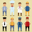 Stock Vector: Worker set