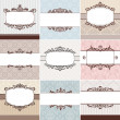 Set of vintage floral frame — Vector de stock #10047130