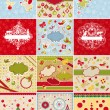 Set of Christmas cards and design elements — Stock Vector #10090434