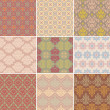 Royalty-Free Stock Vektorgrafik: Set of seamless retro background
