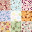 Simple seamless patterns — Stock Vector #10201377