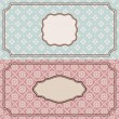 Floral retro frames — Stock Vector