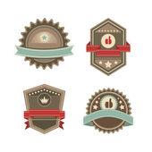 Vintage vector labels — Stock Vector