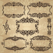 Collection of vintage frames — Stock Vector