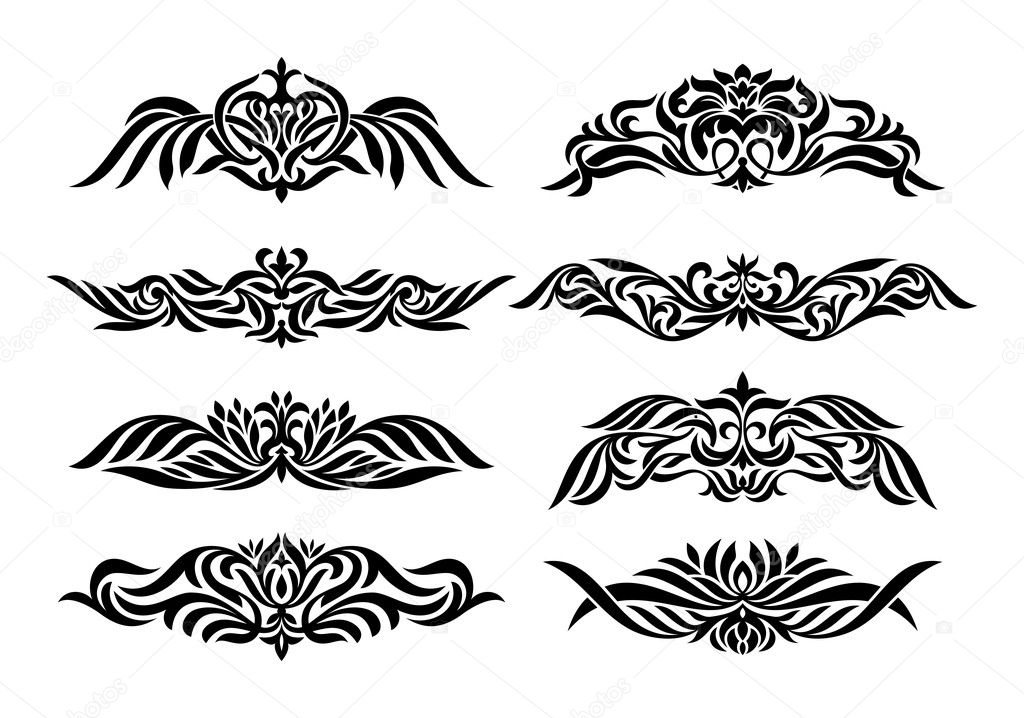Set of design vintage elements vector illustration — Stock Vector #9824503