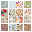 Royalty-Free Stock Immagine Vettoriale: Set of seamless floral background