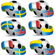 Royalty-Free Stock Vector Image: Vector Soccer ball with flags