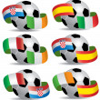 Vector Soccer ball with flags — Stock Vector #10666560