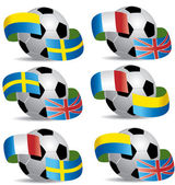 Vector Soccer ball with flags — Stock Vector