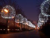 Christmas and New Year illumination — Stock Photo
