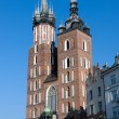 Mariacki Church  in Krakow, Poland — Stok fotoğraf