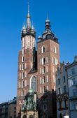 Mariacki Church in Krakow, Poland — Stock Photo