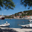 The port on the island of Hvar in Croatia. - Stock Photo