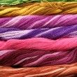 Stock Photo: Background of colour threads