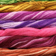 Background of colour threads — Stock Photo