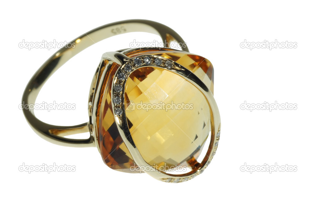 Female ring with a jewel — Stock Photo #10661482