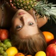 The beautiful girl with fruit — Stock Photo