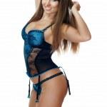 The beautiful brunette in underwear — Stock Photo #9164087