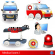 Stock Vector: Medical icons 1