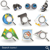 Search icons 1 — Stock Vector
