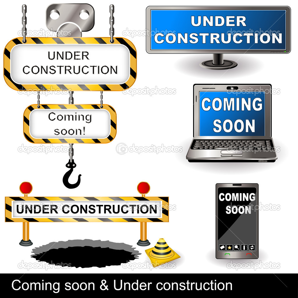 Coming soon and under construction signs. — Stock Vector #10046571
