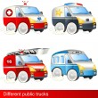 Different public trucks — Stock Vector