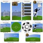 Soccer ball stationary — Stock Vector