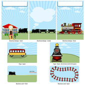 Steam train stationary — Stock Vector