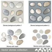 Stones collection — Stock Vector