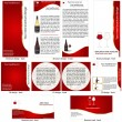 Stock Vector: Wine stationary template