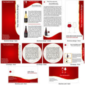 Wine stationary template — Stock Vector