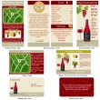 Stock Vector: Red wine stationary