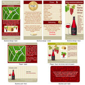 Red wine stationary — Stock Vector
