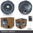 Stock Vector: Speaker collection