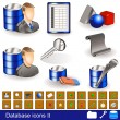 Database icons 2 — Stock Vector