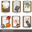 Stock Vector: Clipboard icons 2